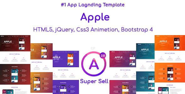 app landing template