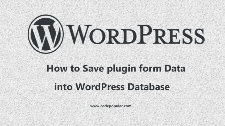 wordpress form data