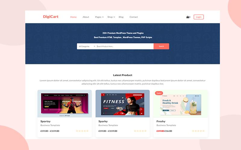 digicart Multivendor WordPress Theme