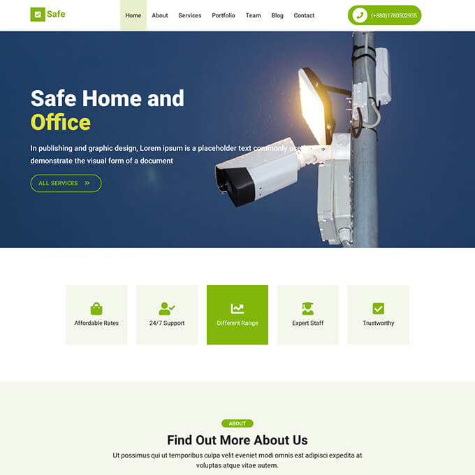 Electronics Onepage Template | Free Website Template
