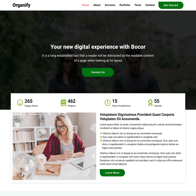 Organic Business Template | Download Free Website Template