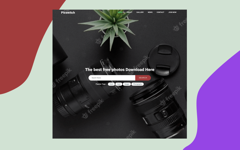 picswitch photo gallery template - free html template