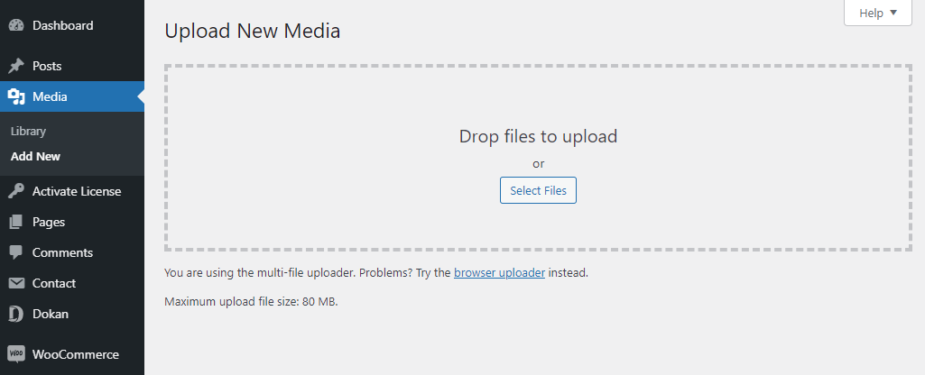 increase file size with wordpress